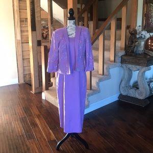 Long Purple Flower Dress